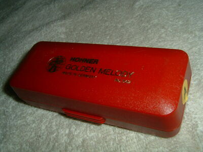 $15 • Buy M. Hohner Golden Melody Harmonica - Key Of A - Made In Germany No. 542 W/ Case
