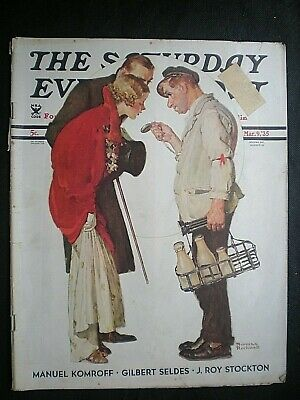 $ CDN48.50 • Buy Saturday Evening Post  March 9.1935 Norman Rockwell  Partygoers  Full Issue
