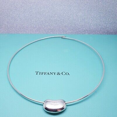 £349 • Buy Tiffany & Co Sterling Silver Elsa Peretti Wire Bean Necklace - Assay Marked