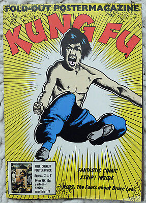 £30 • Buy BRUCE LEE Fold Out Poster Kung Fu Magazine Colour Poster