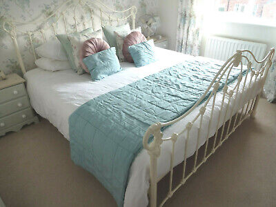 £295 • Buy Cream Metal Ornate Sculptured French Style Super King Size Bed - Excellent
