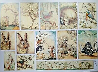 $528.85 • Buy RARE SIGNED MR RABBIT'S SYMPHONY OF NATURE PRESS PROOF By CHARLES VAN SANDWYK