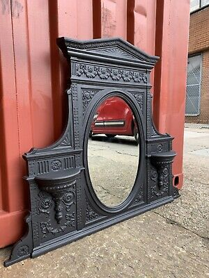 £495 • Buy Large Victorian Style Cast Iron Fireplace Mirror  🚚 Delivery £35 Most Uk