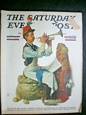 $ CDN48.50 • Buy Saturday Evening Post Nov 7,1931  Practice Makes Perfect  Norman Rockwell Cover