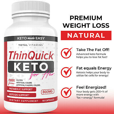 $10.32 • Buy ThinQuick Keto Diet Pills Ultra Fast Advanced Weight Loss BHB Fat Burner For Her