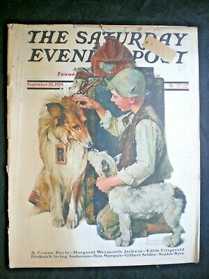 $ CDN48.50 • Buy Saturday Evening Post Sept 28,1929  Making Friends  Norman Rockwell Complete