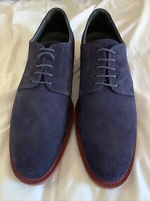 £44.99 • Buy Charles Tyrwhitt Blue Suede Extra Lightweight Derby Shoes Size 9 NEW