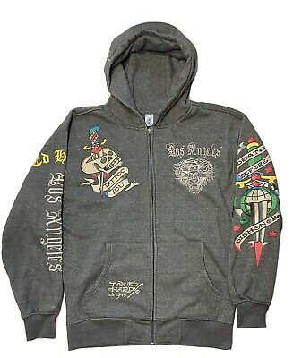 £56.66 • Buy Men's Ed Hardy Tattoo Los Angeles Christian Audigier Hoodie Tiger Embroidered