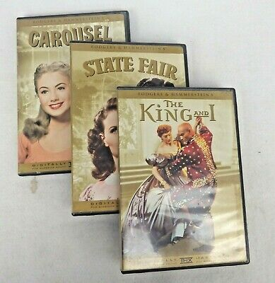 £10.62 • Buy Carousel State Fair The King And I DVD Rodgers & Hammerstein Lot Of 3
