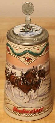 $ CDN43.89 • Buy 1996 Budweiser Holiday Signature Addition Stein With Inlaid Lid # 3641 / 10000