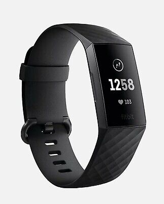 AU49 • Buy Fitbit Charge 3 Advanced Fitness Tracker, Small - Black/Graphite