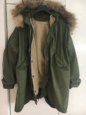 $550 • Buy M-51 Fishtail Parka Shell With Liner And A Fur Hood