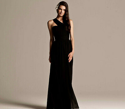 £8.20 • Buy Black Evening Bridesmaid Formal Dresses Gowns At Wholesale Prices Size 14