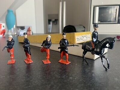 """£19.99 • Buy Britians Toy Soldiers, Boxed  """"Fort Series"""" French Infantry X4 1 Mounted Office"""