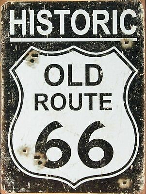 £6.99 • Buy Retro American Vintage ROUTE 66 USA Man Cave Shed Pub Bar Garage Metal Sign - A4