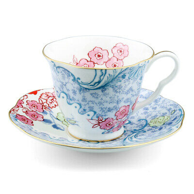 £59.86 • Buy NEW Wedgwood Butterfly Bloom Teacup & Saucer Blue & Pink