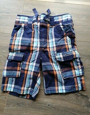 £1 • Buy Boys Blue Checked Shorts  3-4 Years