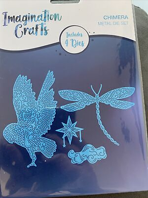 £13.95 • Buy Imagination Crafts Reverie Chimera Cutting 4 Die Set Owl Star Cloud Dragonfly