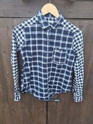 £0.99 • Buy Ladies Hollister Check Shirt Size  XS Flannel Lumberjack Fitted D