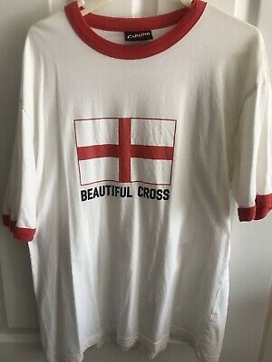 £2.45 • Buy England Football T Shirt, Carling One Size,  Beautiful Cross  Of St George