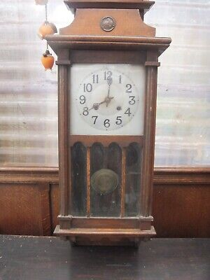 £34.99 • Buy Antique New Haven American Wooden Chiming Wall Clock