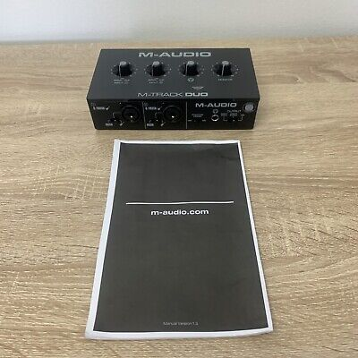 $52 • Buy M-Audio M-Track Duo 2-Channel USB Audio Interface No Cord.