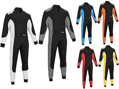 £37.99 • Buy Kart Race Motocross Suits Overall Poly Cotton One Piece Karting Racing Suit New