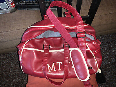 £14.18 • Buy MTV Duffel Carry Travel Bag Faux Leather Vintage 80's Maroon , New