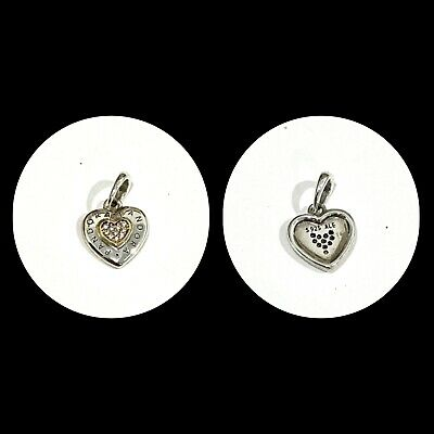 AU29.99 • Buy Genuine Pandora 14CT Gold And SS Two Tone Signature Heart Pendant Charm