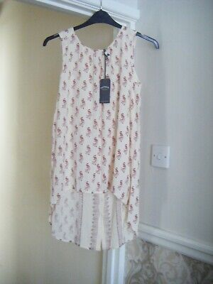 £10 • Buy Ladies New Tagged Fat Face Size 10 Longline Ivory Top