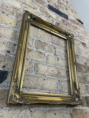 £34 • Buy Vintage Rococo Baroque Gold Gilt & Gesso Detail Picture Frame Medium - Small