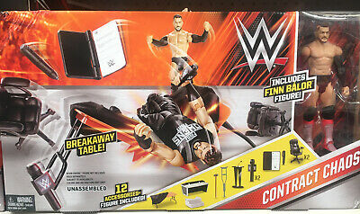 £29.99 • Buy WWE Contract Chaos Playset Wrestling Ring Finn Balor Figure 12 Accessories  NEW