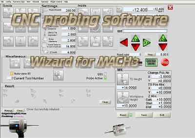 $39.99 • Buy CNC DIGITIZING Touch PROBE Probing Software Wizard For Mach3 Mill Router Cad Cam
