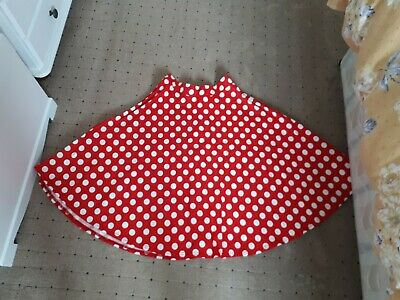 £1.99 • Buy Red & White Polka Dot 1950's Style Skirt Size Small