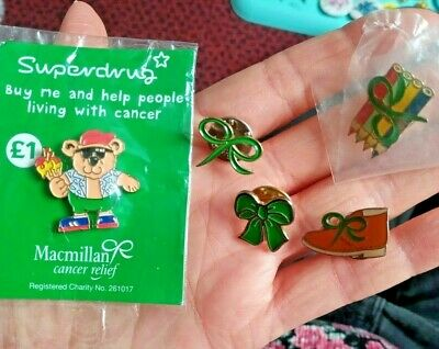 £2.49 • Buy 5x MACMILLAN CANCER CARE ENAMELS Pin Badges Vintage Lot Charity SOME NEW IN PACK
