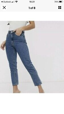 £20 • Buy New With Tags Vero Moda. W28 L28 Petite Jeans High Rise Relaxed Bnwt - Size 8