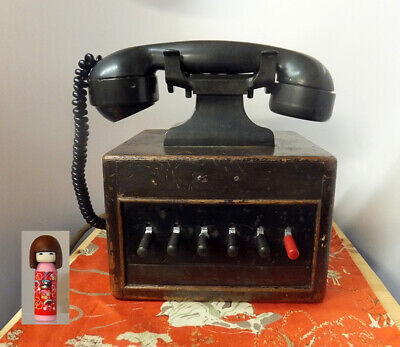 £70 • Buy Vintage 1930s Dictograph Telephone System Switchboard Telephone In A Wooden Box!