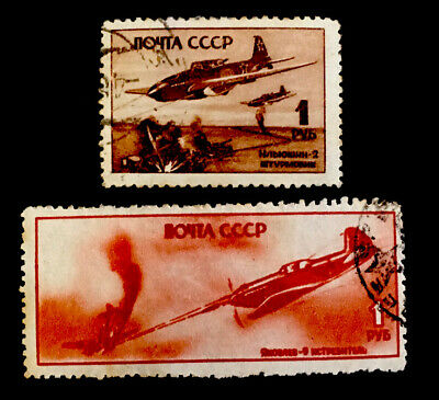 £0.99 • Buy Russia  Aviation Day  1945 X2 VFU Stamps LH
