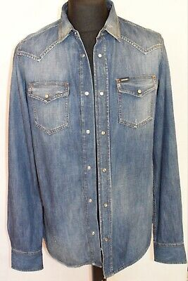£69.99 • Buy Diesel Mens Shirt Size Large Denim Cotton Rrp From £220 Brand New Limited Stock