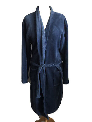 £5 • Buy Atlantic Bay / BHS Mens Blue Polyester Dressing Gown Robe With Belt - Size M