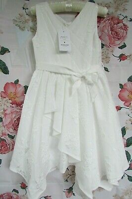 £24.99 • Buy BNWT Ivory RIA Flower Girl Bridesmaid Party Occasion Dress 7-8 MONSOON £60