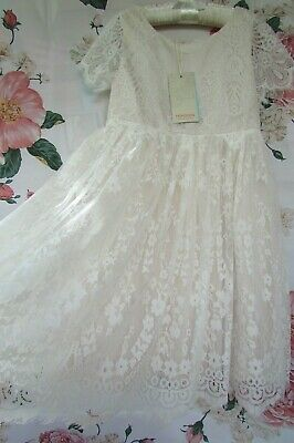 £24.99 • Buy BNWT NUDE VALENCIA Flower Girl Bridesmaid Party Occasion Dress 9-10 MONSOON £60