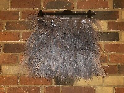 £20 • Buy Topshop Ostrich Feather Skirt Size 10 RRP £110
