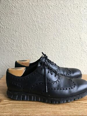 $20.50 • Buy Cole Haan Zero Grand Black Wingtip Oxford   Shoes Men's Size 12 M Pre-Owned