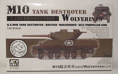 $28 • Buy 1/35 AFV Club M10 Tank Destroyer Wolverines Late Production # 35S07 W/ Limited R