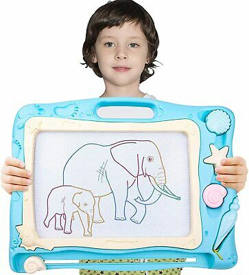£12.99 • Buy Large Magnetic Drawing Board For Kids Erasable Colourful Scribble Writing Board