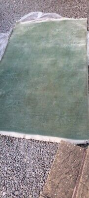 £25 • Buy Jade Green Wool Chinese Rug With Inset Pattern And Fringe Size 240 X 145 Cm