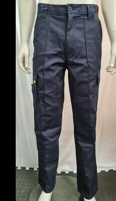 £13.99 • Buy Mens Cargo Combat Work Heavy Duty Trousers Size 32S Navy  SITE KING * BRAND NEW