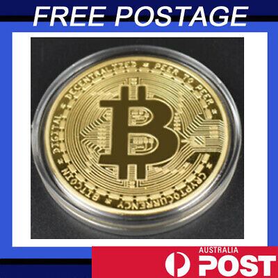AU5.50 • Buy 1Pcs Gold Bitcoin Commemorative 2021 New Collectors Gold Plated Bit Coin