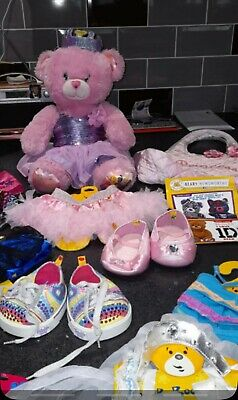 £29.95 • Buy Disney Princess Build A Bear With Multiple Clothes, Hangers & Accessories